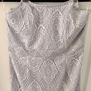 Tobi Lilac Eyelash Lace Dress, Size L